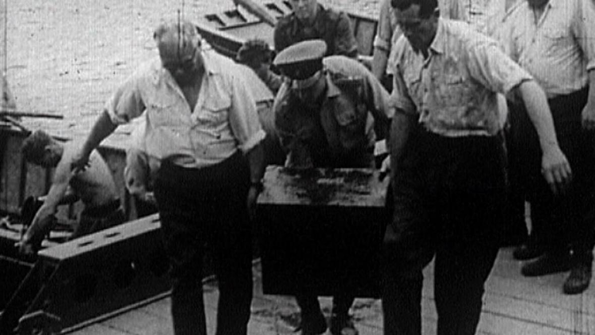 Vyzdvižení údajných nacistických dokumentů