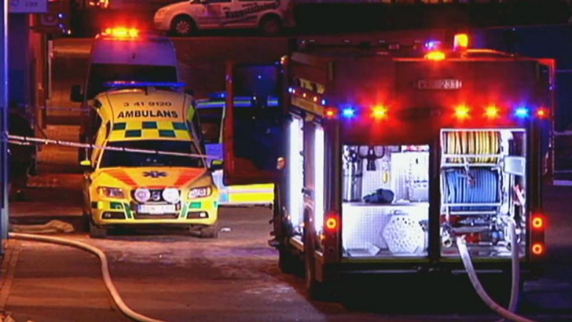 Švédští hasiči a záchranáři