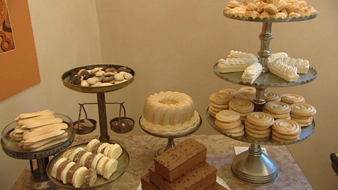Z expozice o historii cukráren