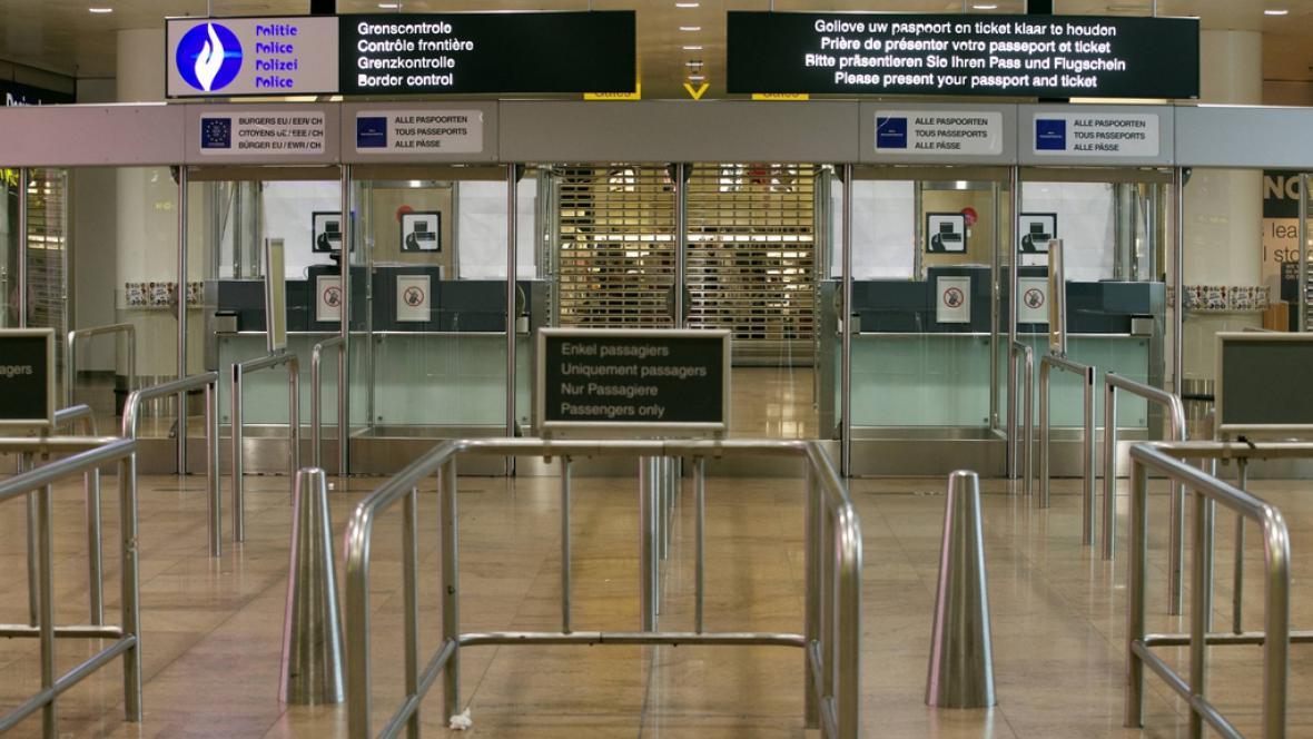 Belgické letiště Zaventem zeje prázdnotou