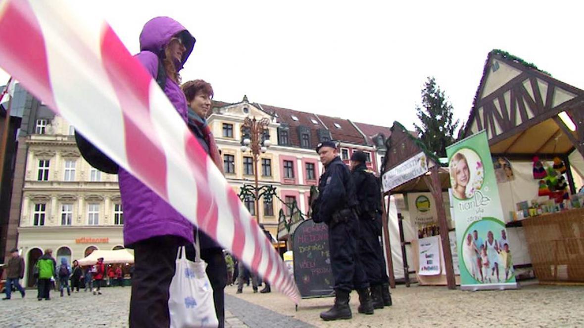 Uzavřené náměstí E. Beneše v Liberci