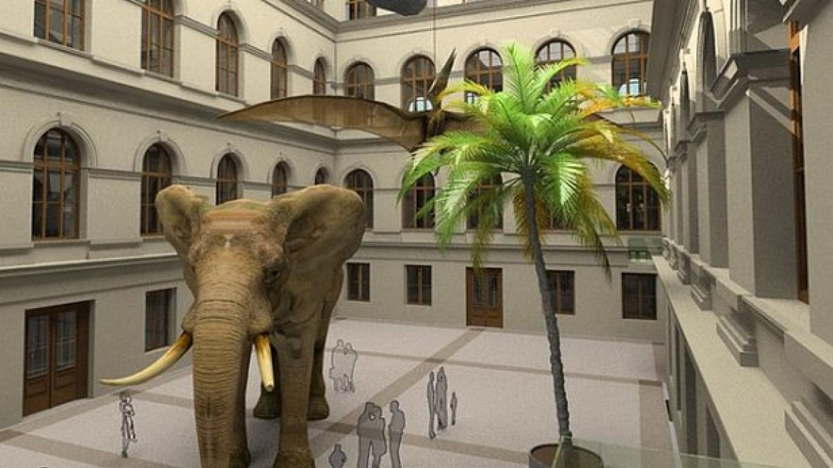 Vizualizace: Historická budova Národního muzea po rekonstrukci