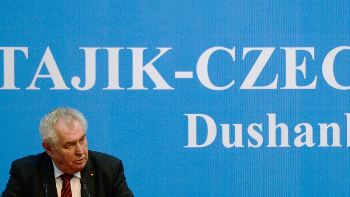 Miloš Zeman v Tádžikistánu