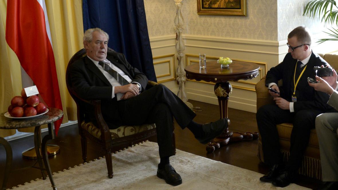 Miloš Zeman na návštěvě Astany