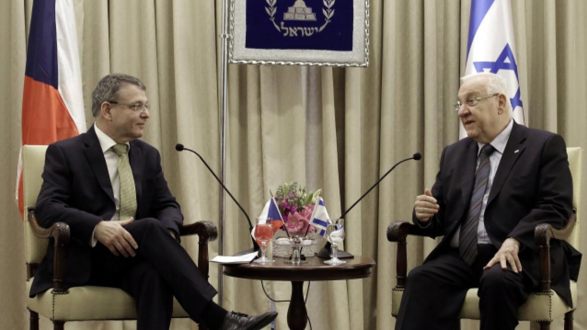 Lubomír Zaorálek a izraelský prezident Reuven Rivlin