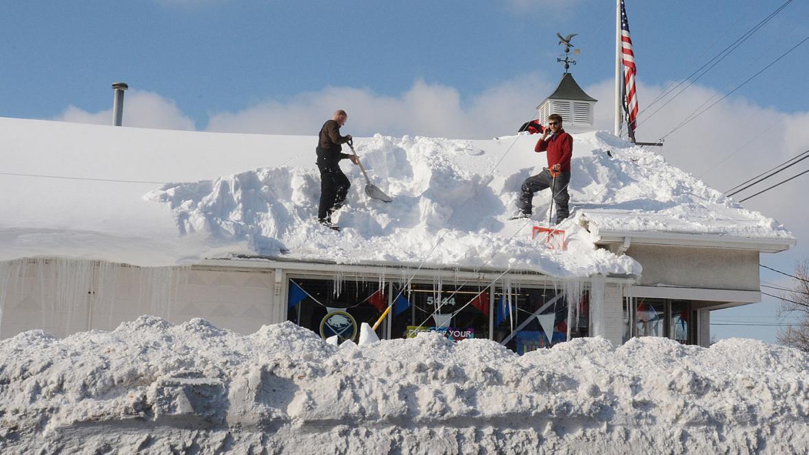 Sněhová kalamita v americkém Buffalu
