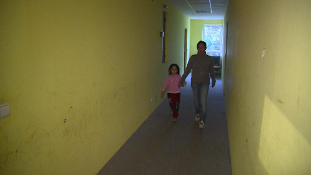 Zuzana Dunová s dcerou na ubytovně