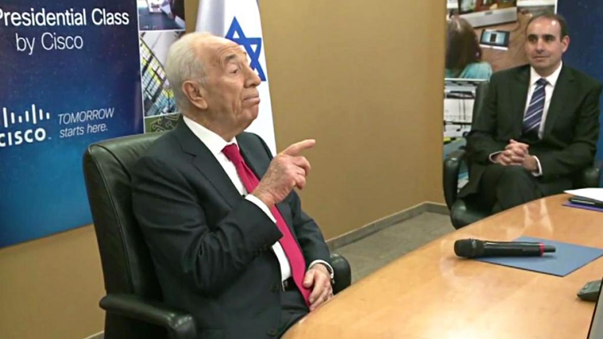 Šimon Peres při rekordní přednášce