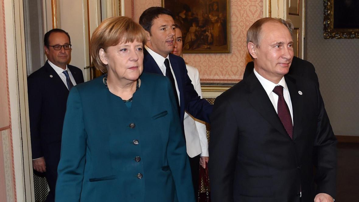 Setkání Merkelové s Vladimirem Putinem