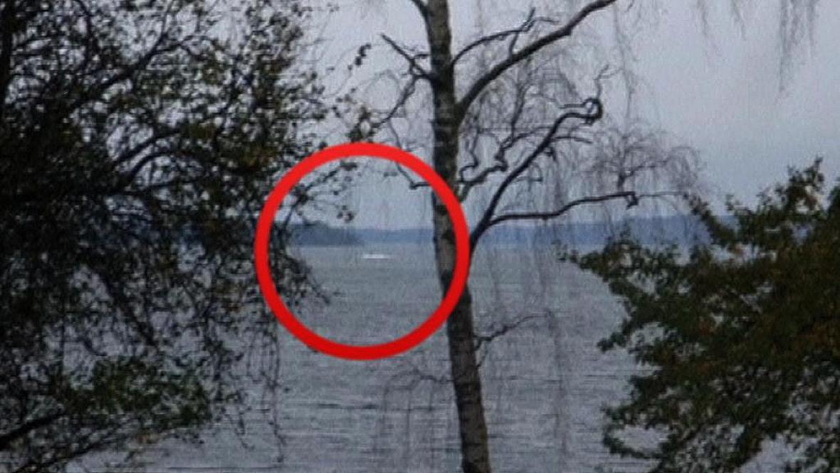 Amatérská fotografie hledané ponorky