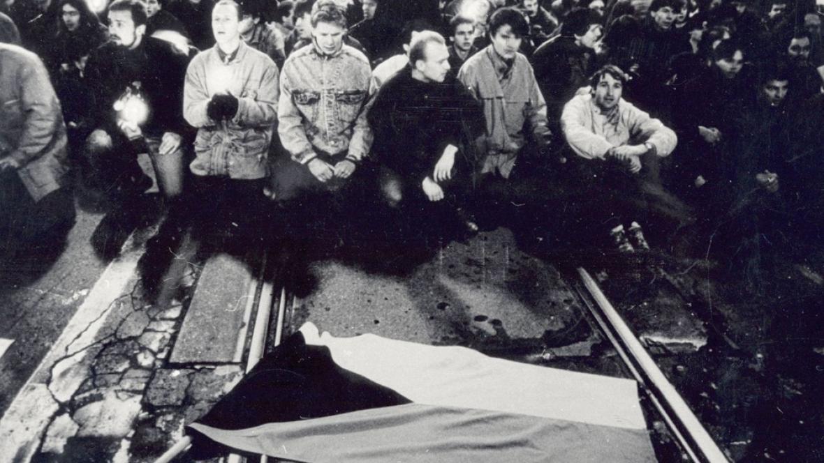 Národní třída 17.11.1989
