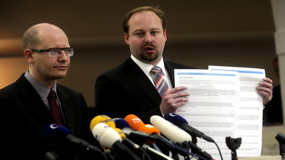 Bohuslav Sobotka a Jeroným Tejc