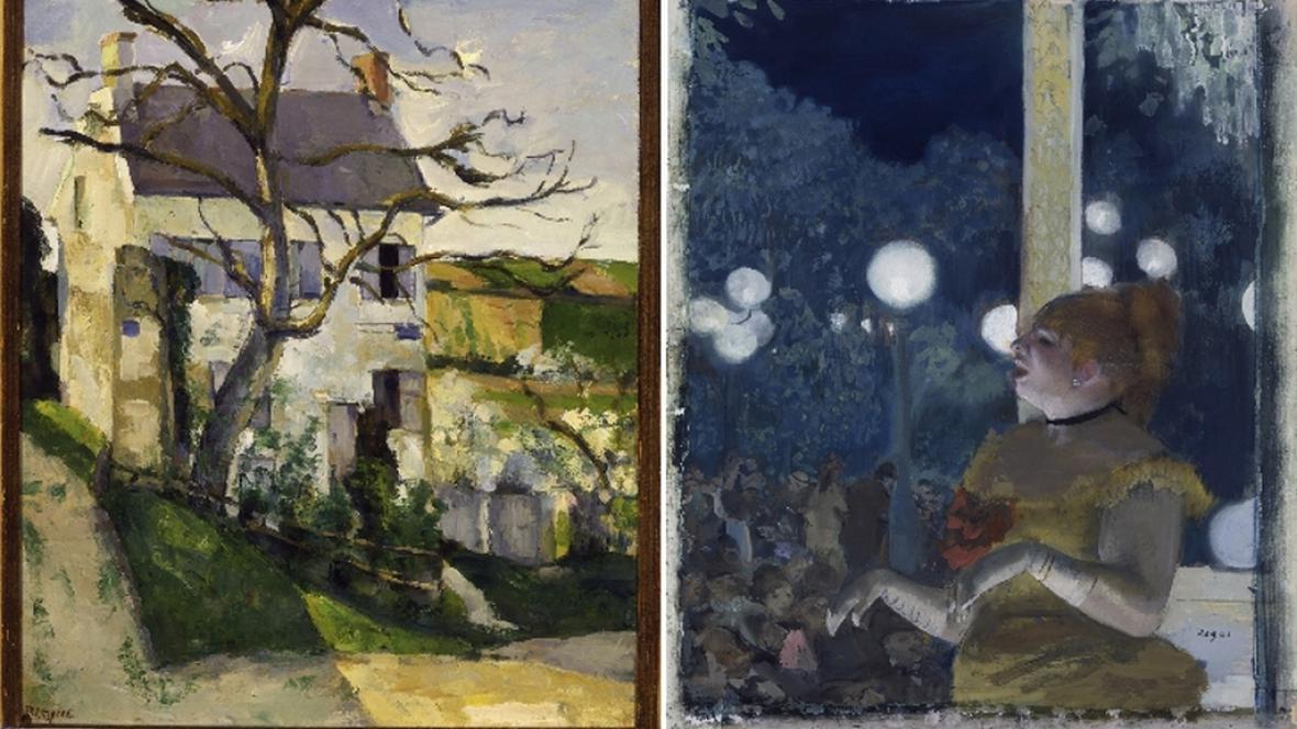 Obrazy Paula Cézanna a Edgara Degase
