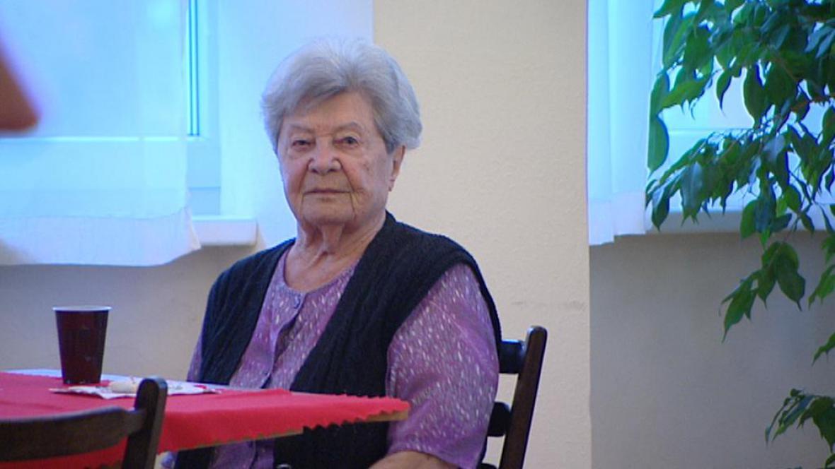 Obyvatelka malešického domova pro seniory