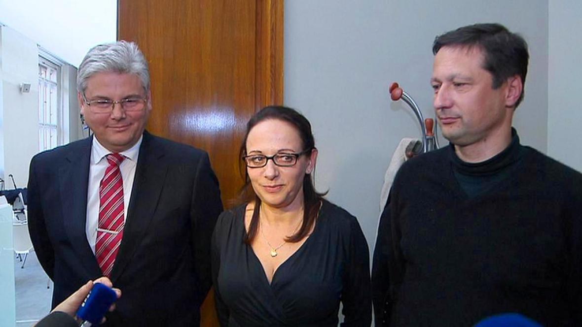 Miloslav Ludvík, Adriana Krnáčová a Petr Štěpánek