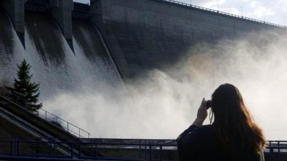 Výpusť vodní nádrže Orlík