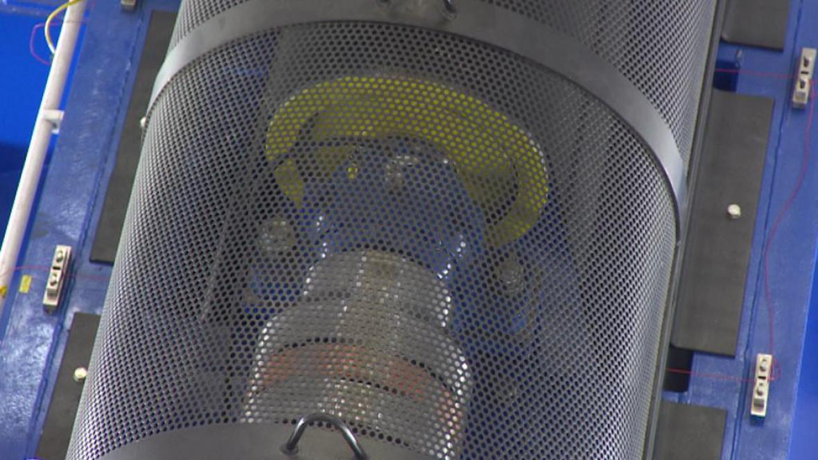 Turbína vodní elektrárny v Hluboké nad Vltavou