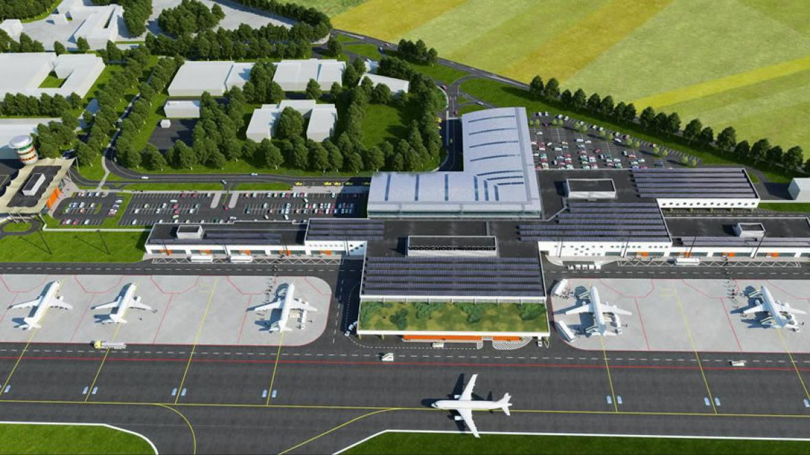 Vizualizace letiště Vodochody