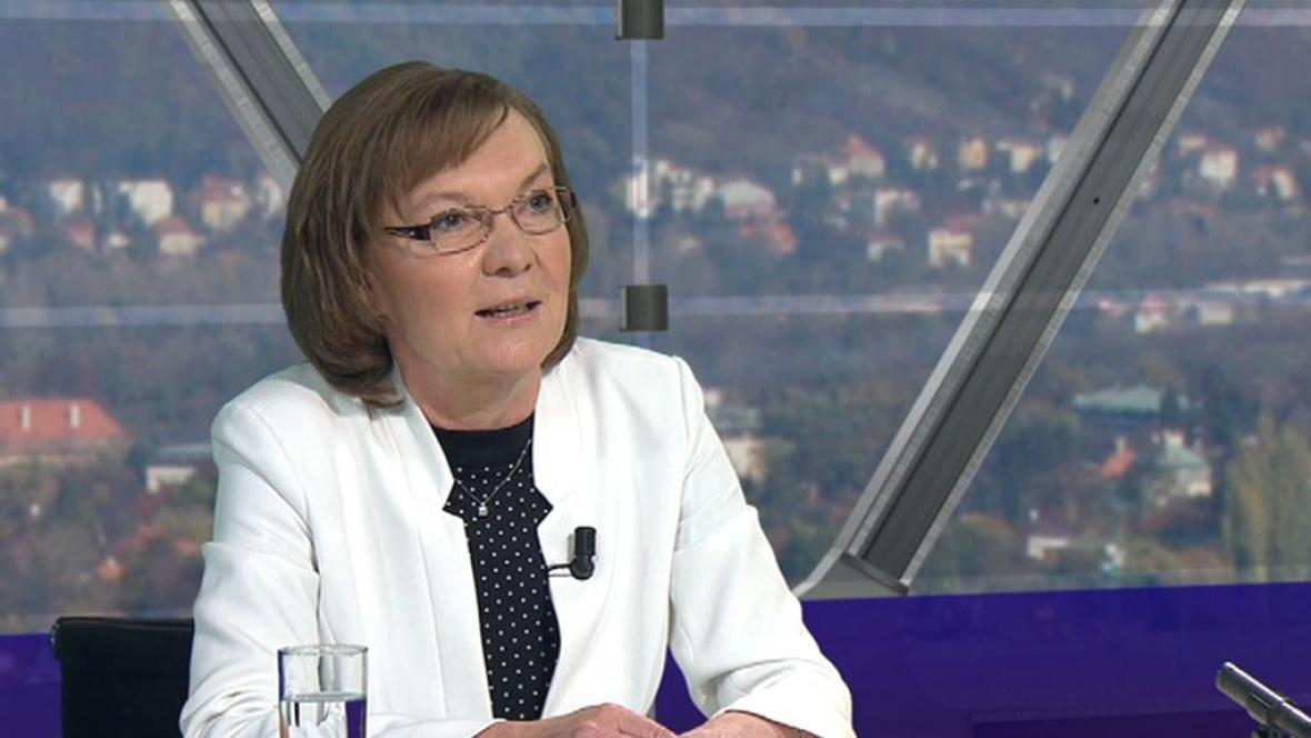 Marie Bílková v Otázkách Václava Moravce