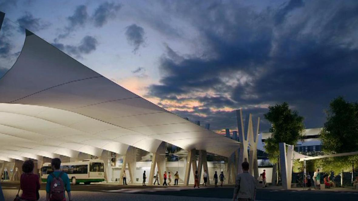 Návrh nové haly havířovského nádraží