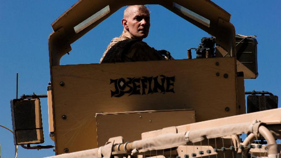Jaroslav Mevald v době, kdy se účastnil mise v Afghánistánu