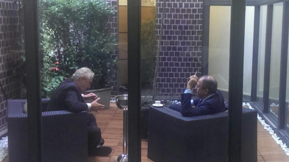 Miloš Zeman v hovoru se Sergejem Lavrovem