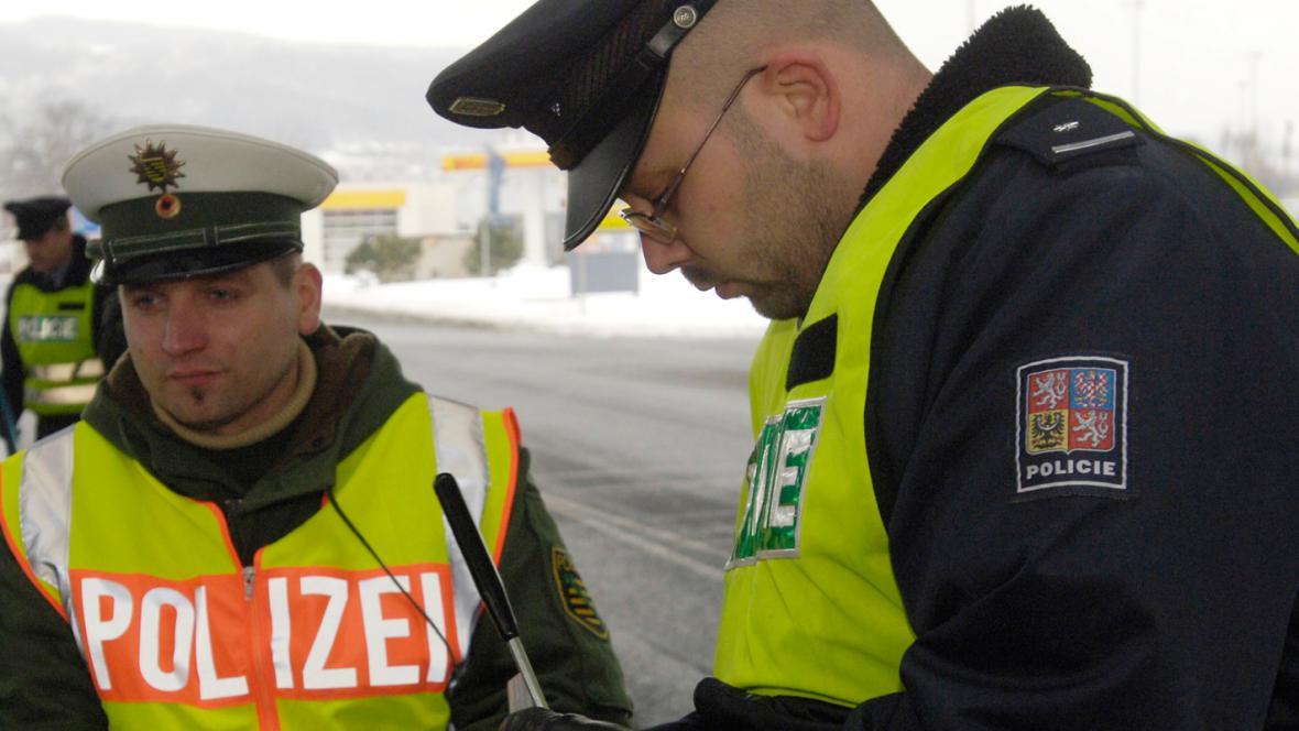 Německá a česká policie