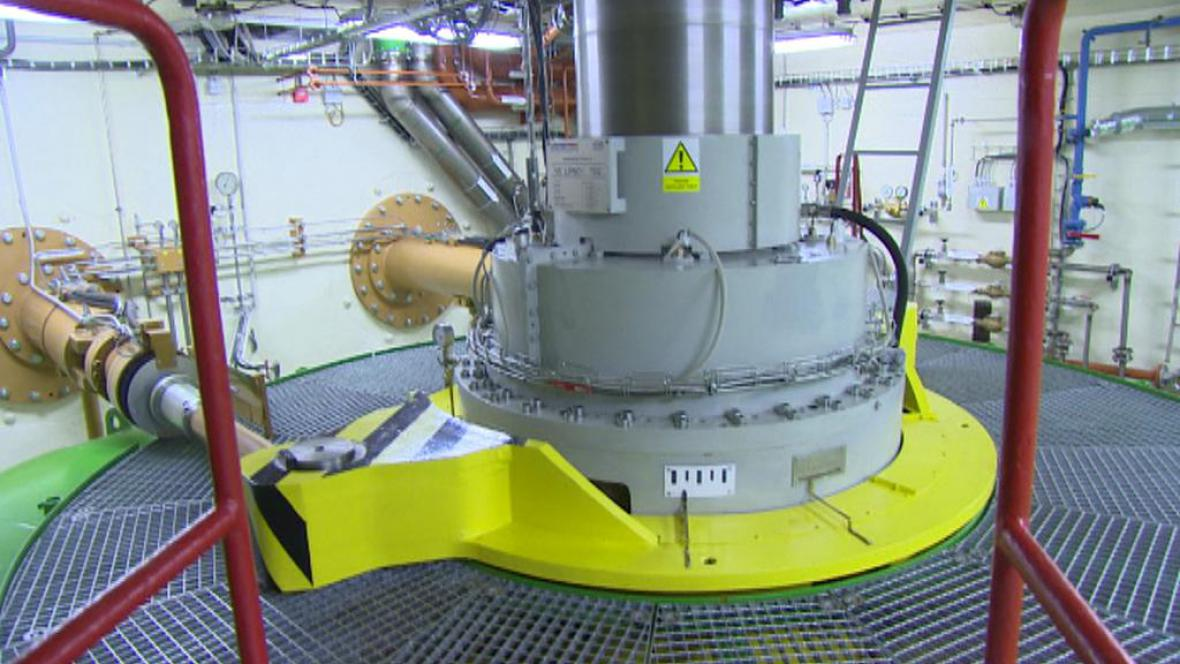 Nová turbína lipenské elektrárny