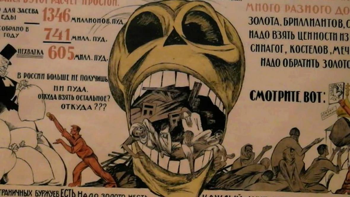 Ruský propagační plakát v první světové válce