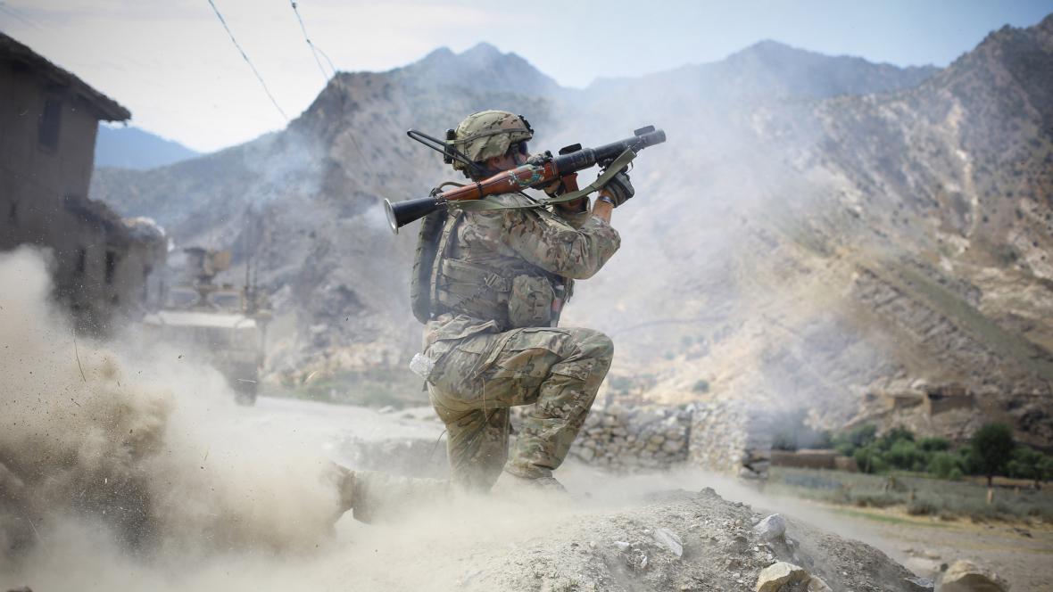 Americký voják v Afghánistánu