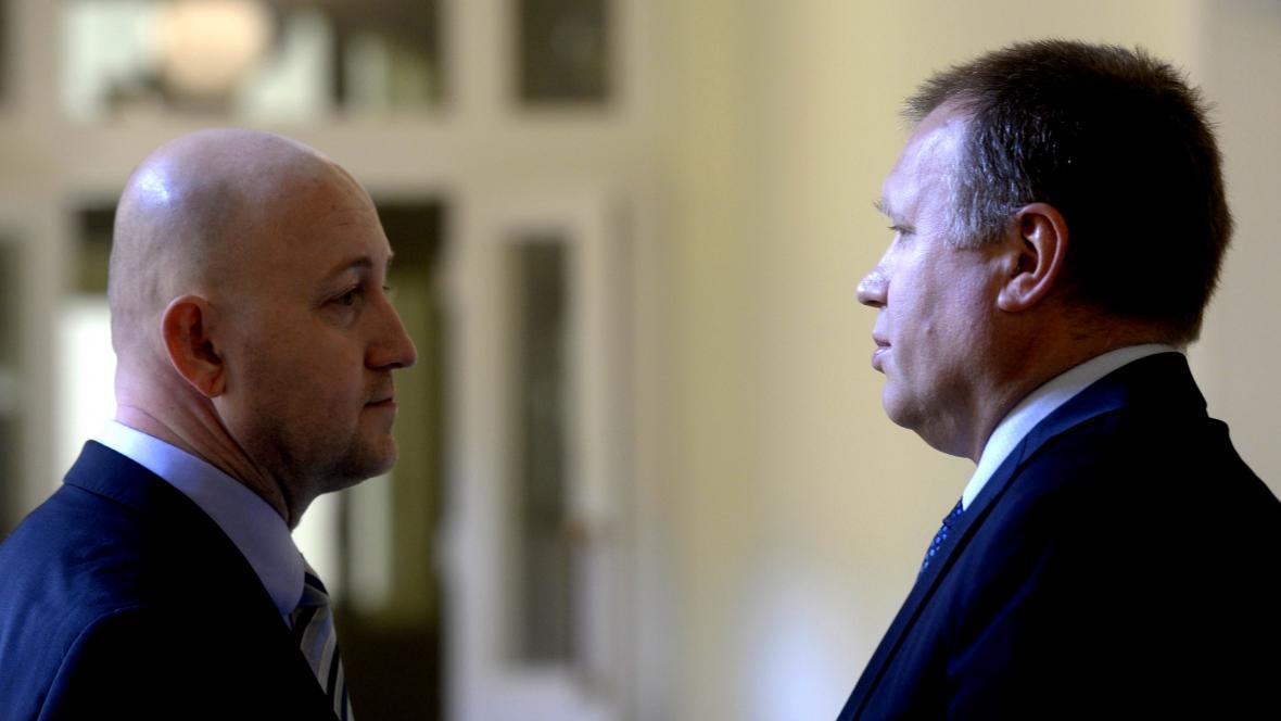 Milan Hojer (vlevo) a Vladimír Šiška