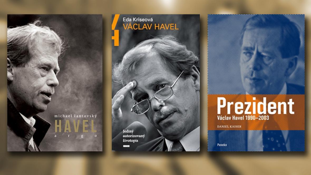 Obálky knih o Václavu Havlovi