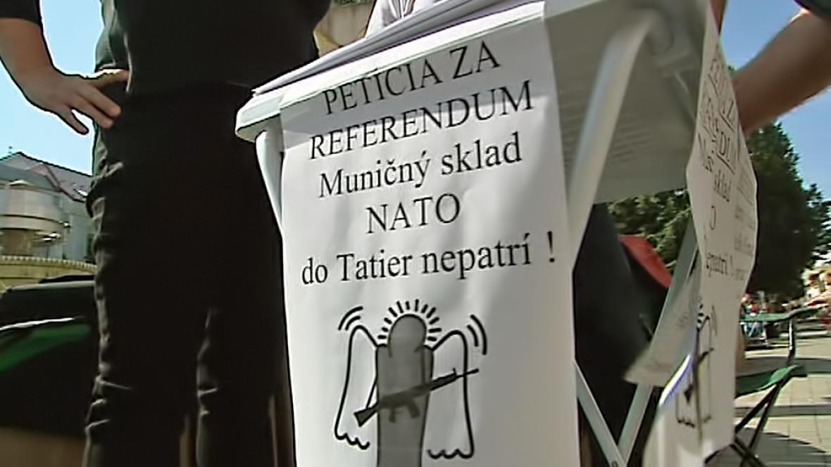 Petice za referendum k základně NATO v Popradu