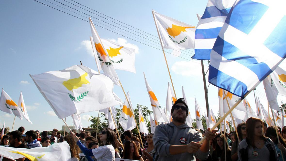 Vlajky Kypru a Řecka
