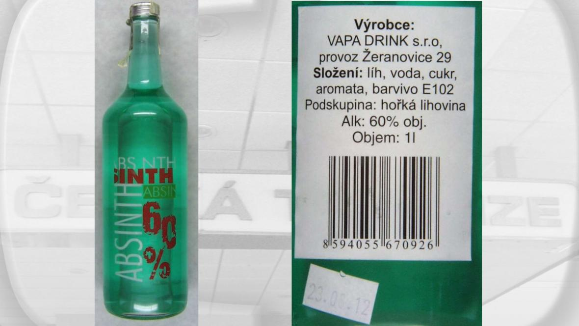 Absinth s metanolem od Vapa Drink