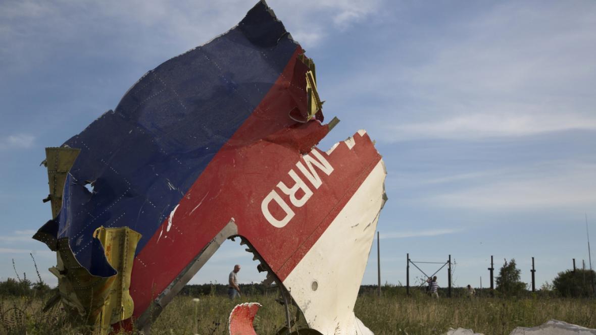 Zbytky malajsijského letadla poblíž Doněcku