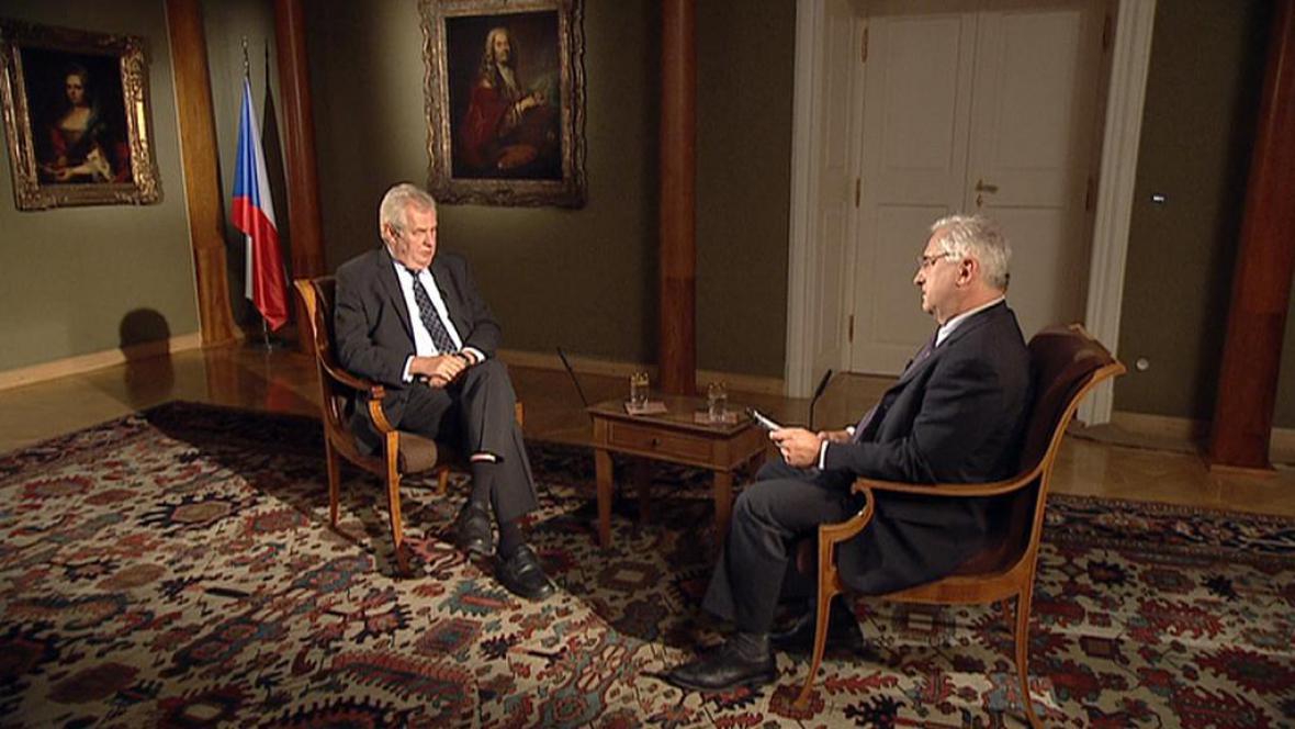 Prezident Miloš Zeman v Ekonomice ČT24