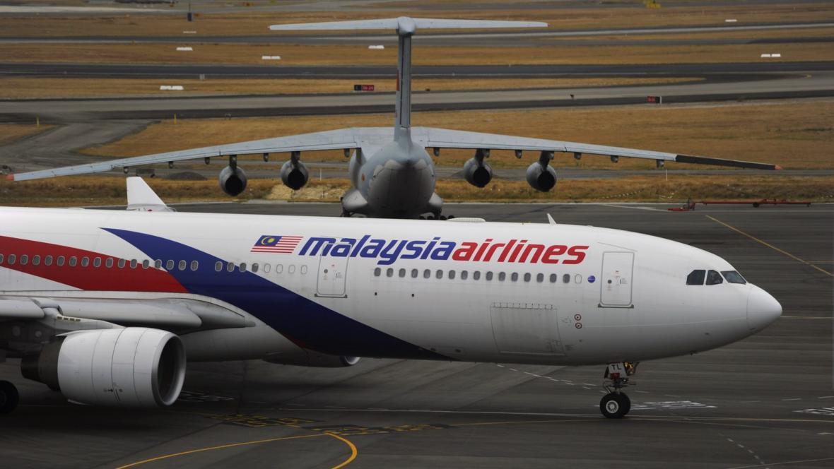 Letadlo společnosti Malaysia Airlines v australském Perthu