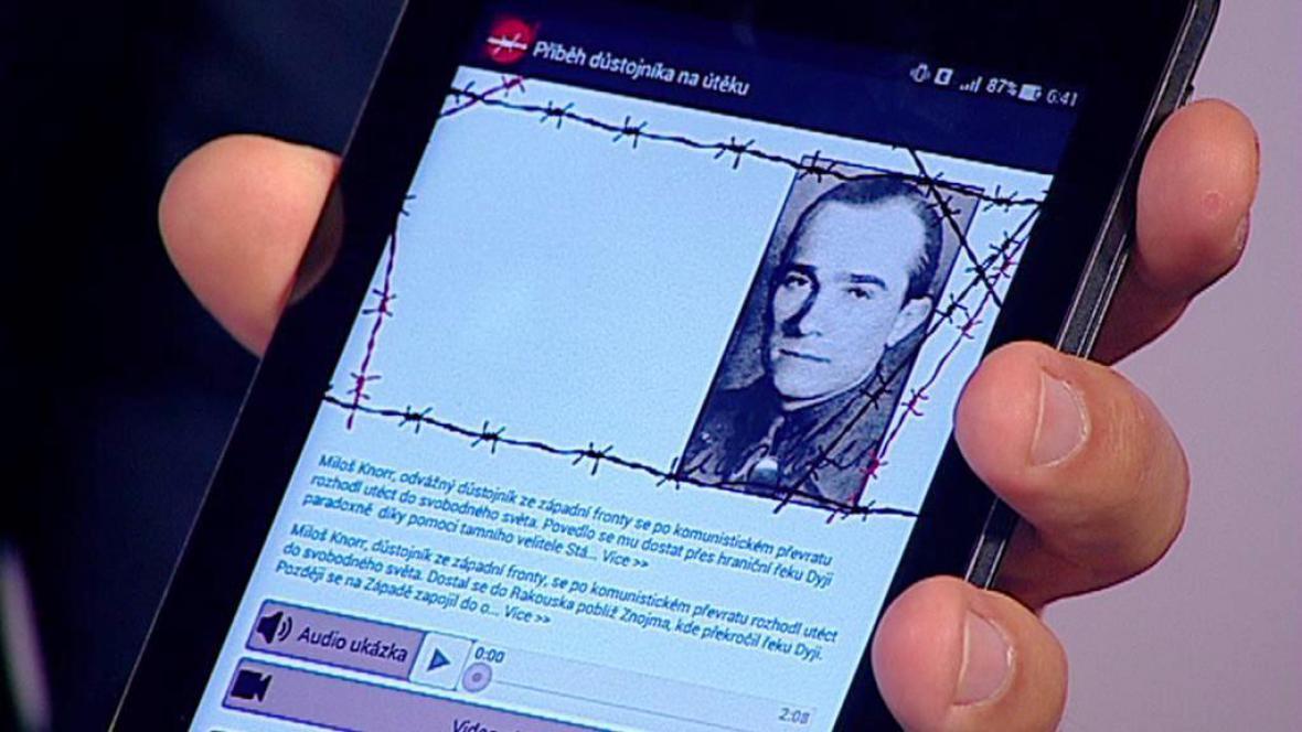 Mobilní aplikace Příběhy železné opony