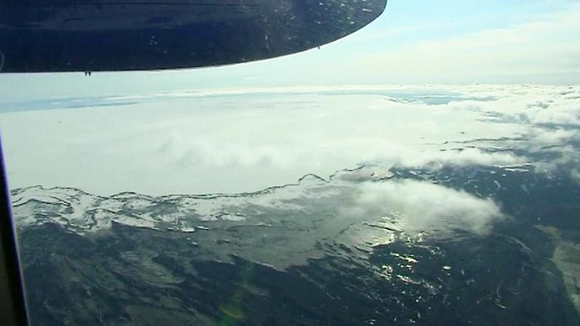 Islandská sopka Bárdarbunga