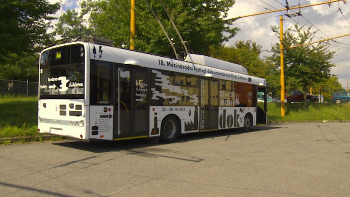 Trolejbus dokumentárního festivalu Ji.hlava