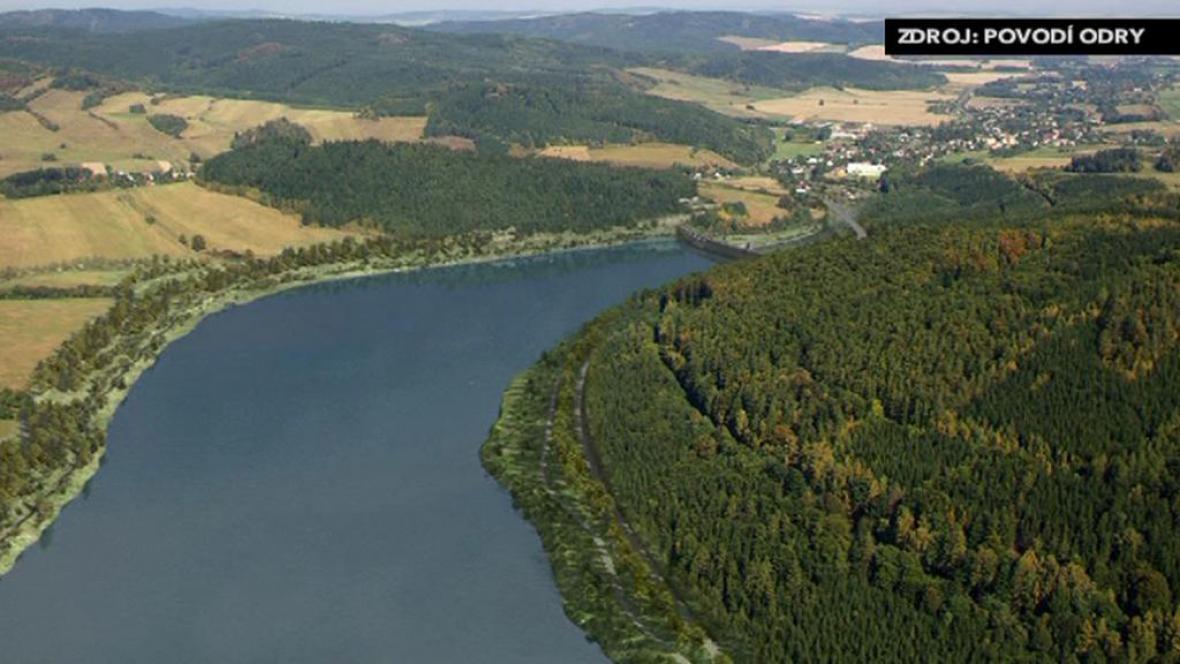 Vizualizace heřminovské přehrady