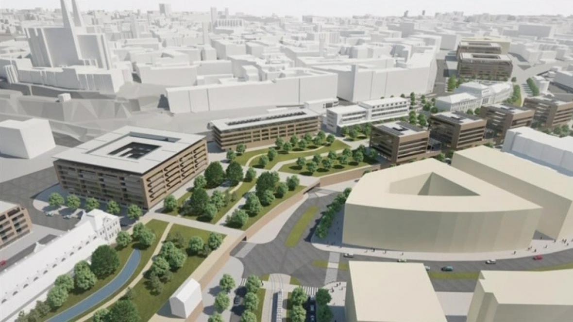 Nové nádraží by mělo vyrůst u řeky Svratky