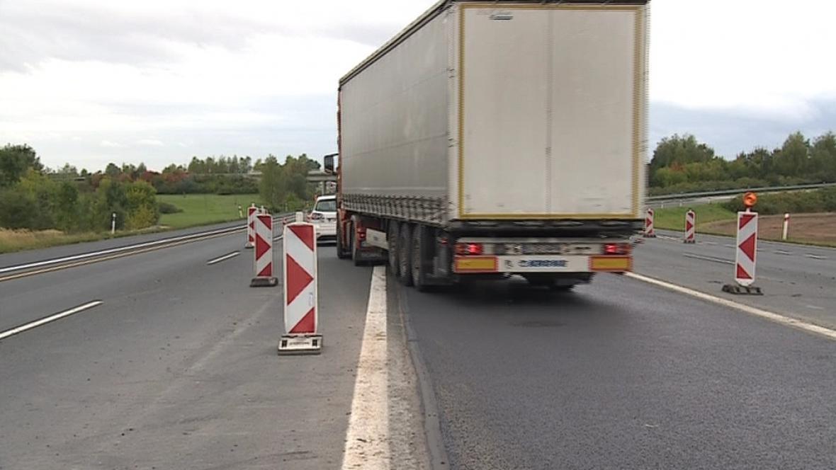 Uzavírka na dálnici D1