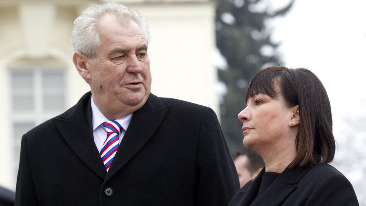 Miloš Zeman s manželkou Ivanou