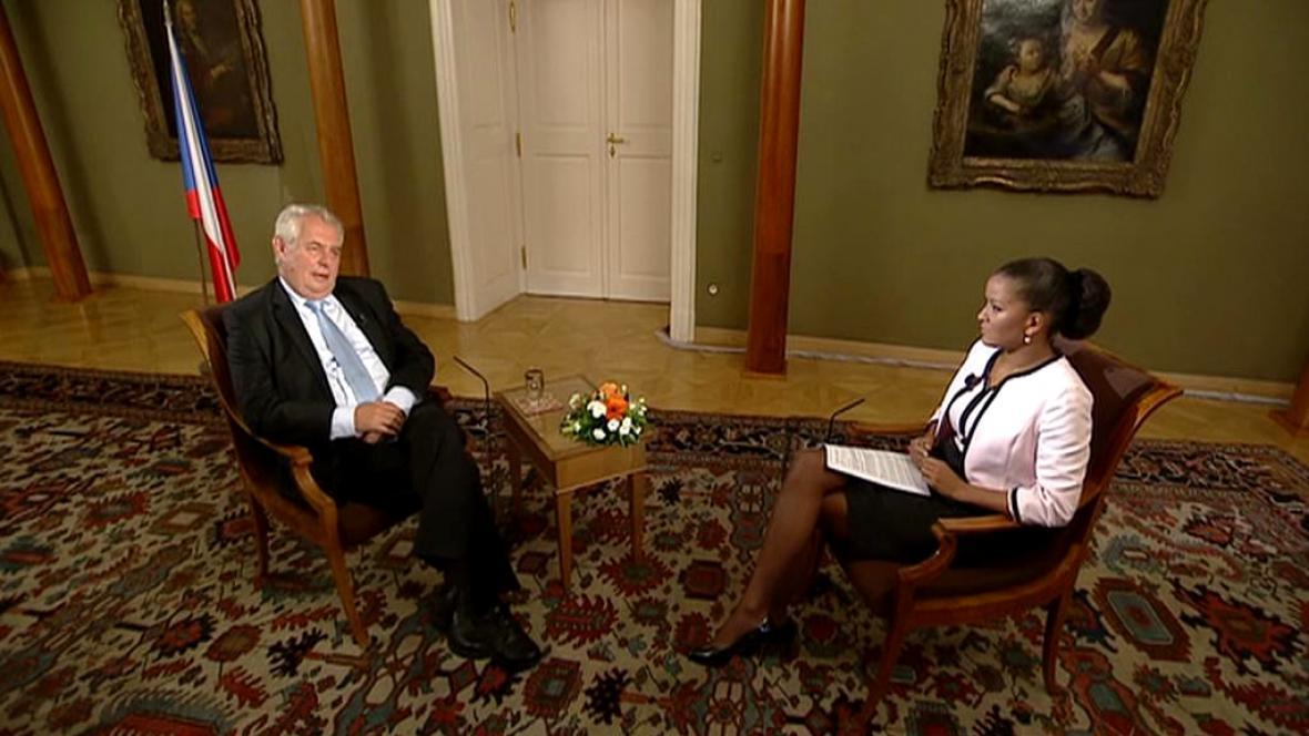 Prezident Zeman v Interview ČT24
