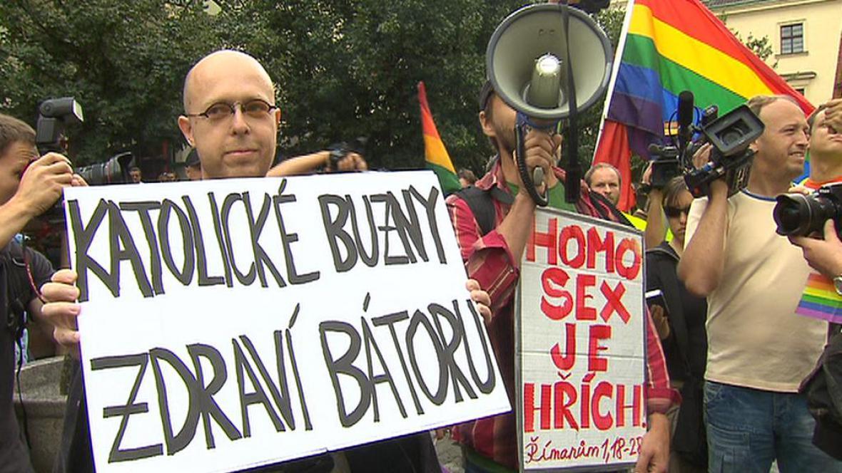 Martin C. Putna na Prague Pride