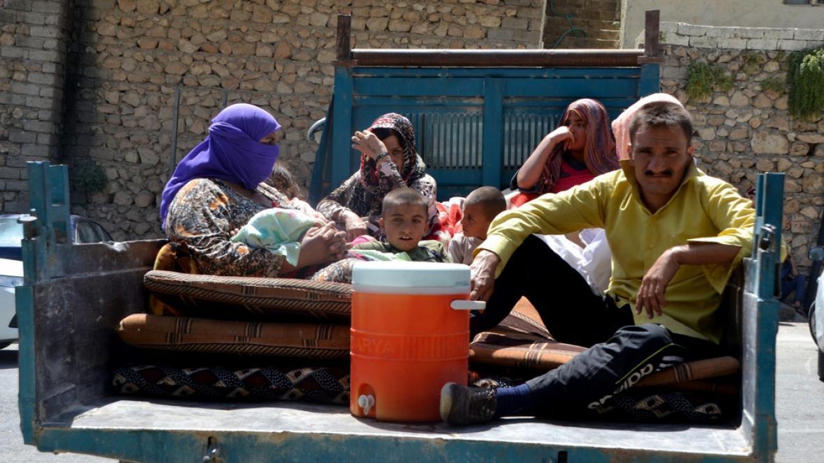 Iráčané na útěku