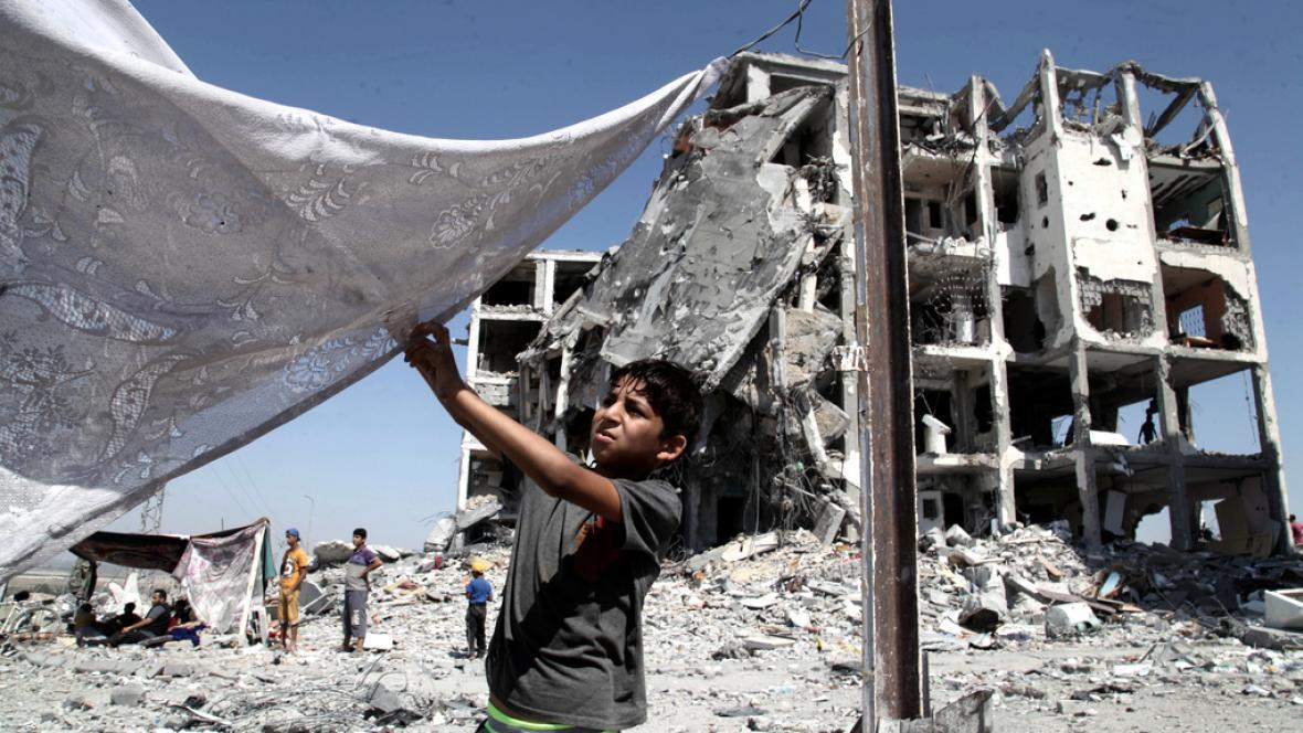 Mnoho míst v Pásmu Gazy nese ničivé následky války