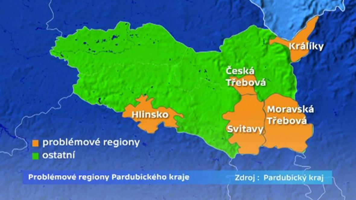 Problémové regiony Pardubického kraje